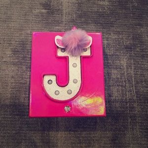 Other - Justice unicorn J necklace and box